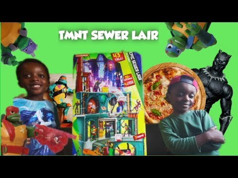 RISE OF THE NINJA TURTLE SEWER LAIR | PRETEND PLAY | MARVEL SUPERHERO TOY