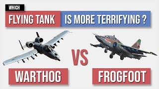 A10 Warthog vs SU25 Frogfoot - Flying Tank Comparison