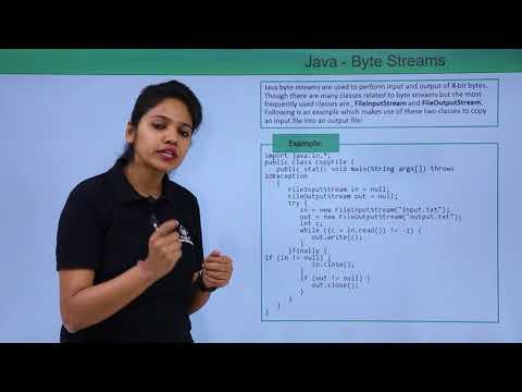 Java - Byte Stream