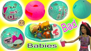 Barbie Doll Babysits Babies - LOL 7 Layer Surprise Blind Bag Baby Cry? Color Change?
