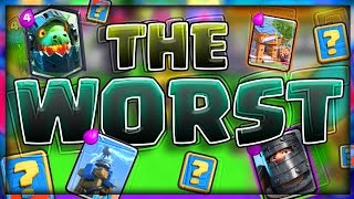 WINNING WITH THE WORST CARDS in Clash Royale!?