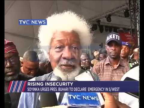 Soyinka urges President Buhari to declare emergency over rising insecurity
