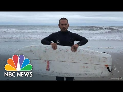 Surfer Makes Board From 700 Dunkin' Donuts Cups And Plastic Drinking Straws | NBC News
