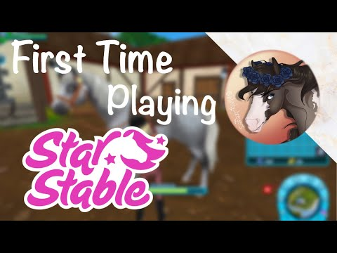 FIRST TIME PLAYING STAR STABLE!!!