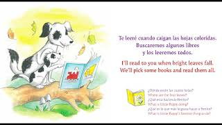 "Listen to ""Love You Hug You Read to You"" sung in Spanish ""Te amo, te abrazo, leo cont"