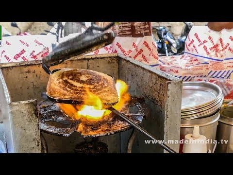 CHEESE MASALA TOAST SANDWICH MAKING | STREET FOODS 2017