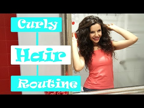 Простая укладка для кудрявых/волнистых волос | Curly Hair Routine
