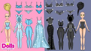 PAPER DOLLS DRESS UP WARDROBE WITH CLOTHES TUTORIAL