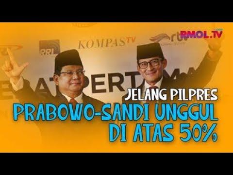 Jelang Pilpres, Prabowo-Sandi Unggul Di Atas 50%