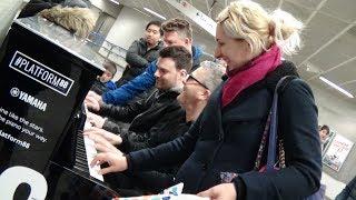 Four Strangers Jam On One Piano