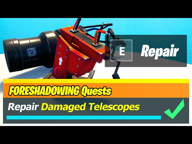 Location Of Broken Telescopes In Fortnite Fortnite Telescope Location Chapter 2 Season 6 Where To Find And Repair Damaged Telescopes