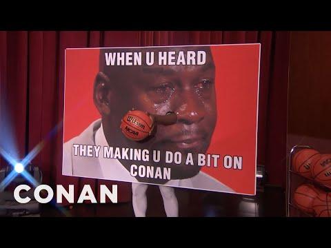 NCAA Mascots That Shouldn't Dunk: Crying Michael Jordan Meme Edition  - CONAN on TBS