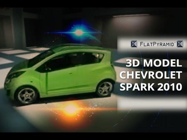 Chevrolet Spark 2010 3d Model