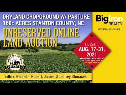 Land Auction 160+/- Acres Stanton County, NE