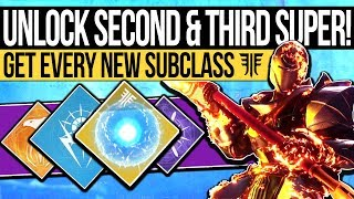 Destiny 2   How to Unlock SECOND SUBCLASS! Additional Seeds of Light & Super Trees! (Forsaken)
