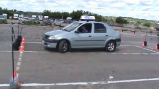 Пример упражнений на автодроме города Владимира