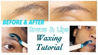 Quarantine & DIY Eyebrow and Wax tutorial | kadreanna scofield