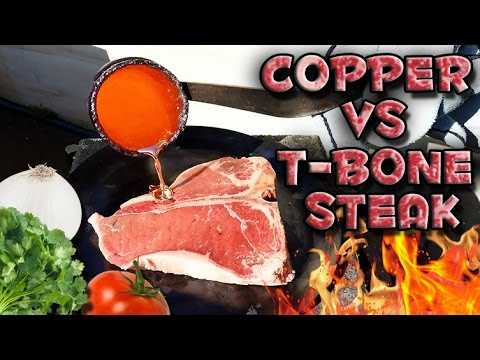 Here's Molten Copper Actually Cooking A Steak
