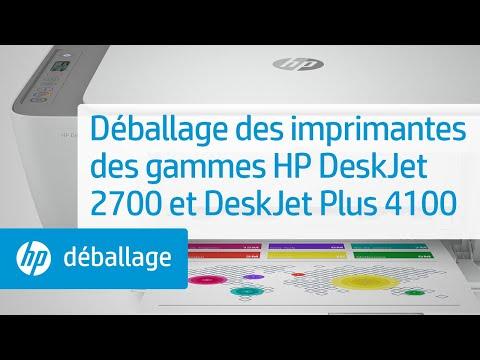 Déballage des imprimantes des gammes HP DeskJet 2700 et DeskJet Plus 4100