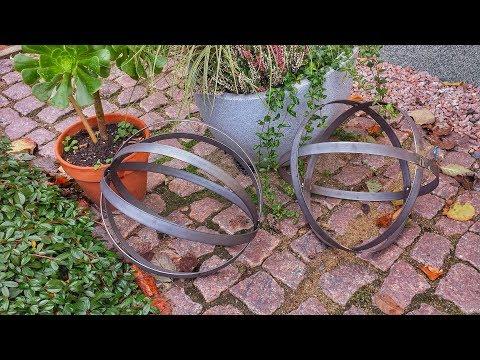 Garten Dekoration - Metall Kugel selber bauen - Dekokugel - Edelrost