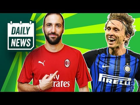 TRANSFER NEWS: Modrić to join Inter, Higuain joins Milan + Anthony Martial to leave Man United