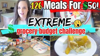 126 Meals For $50! | EMERGENCY EXTREME BUDGET GROCERY HAUL 2020