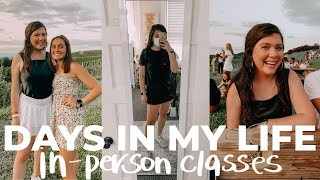 UVA COLLEGE DAYS IN THE LIFE *in-person classes* | university of virginia