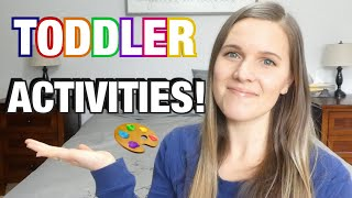 TODDLER/PRESCHOOL ACTIVITIES AT HOME! | EASY LEARNING FUN FOR YOUR 2/3/4 YEAR OLD
