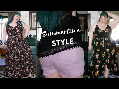 ae5112a8ab6 Plus Size Outfit Ideas Maxi Dress Shorts Try On Haul play
