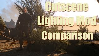 The Witcher 3 Mods - Cutscene Lighting - Comprehensive Comparison 4k HD