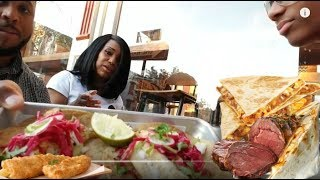 Prime Rib Quesadilla and Fish Tacos New York City Style