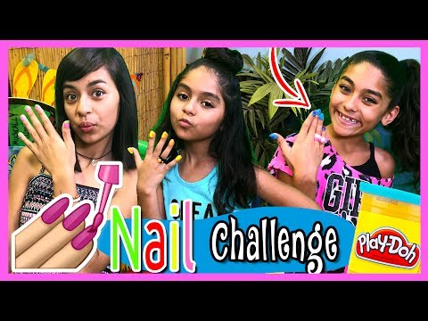 DIY Play Doh Nails Challenge : SO CHATTY // GEM Sisters
