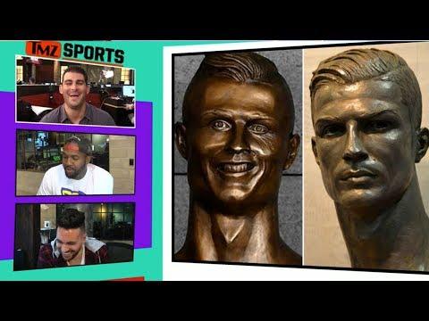 Cristiano Ronaldo Gets New Bust, Accurately Portrays Handsomeness I TMZ Sports