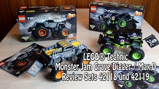 Review LEGO Technic Monster Jam Grave Digger und Max-D (Sets 42118 und 42119)