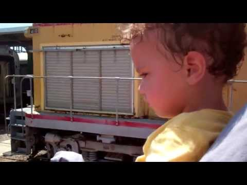 Video Riding the train at the train museum in Galveston