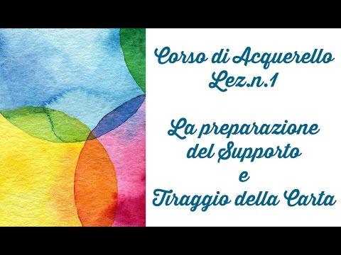 Corso di Acquerello,Lez.1 Preparazione del supporto e tiraggio della carta + GIVEAWAY (Arte per Te)