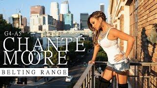 Chanté Moore's Belting Range in 1 Minute (Studio)