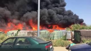 Incendio asentamiento Lepe