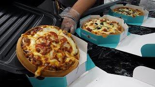 콤비네이션 피자 와플 / Combination Pizza Waffle - Korean street food