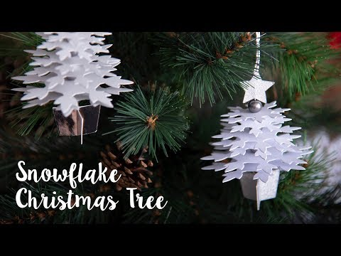 How to Make Snowflake Christmas Tree - Sizzix