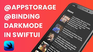 Dark Mode in SwiftUI using @Binding & @AppStorage (SwiftUI Tutorial, @Binding, @AppStorage)