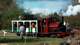 preview picture of video 'Hampton and Kempton Railway opens for the season'