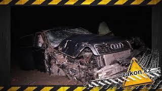 В Алматинской области Audi вылетела с развязки