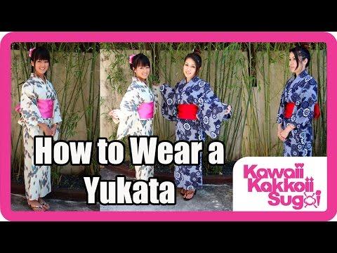 How to Wear a Yukata (Simple) HD
