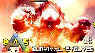 ARK: SURVIVAL EVOLVED - MAGUMA GUARDIAN DEITY OF FIRE BOSS !!! E18 (MODDED ARK EXTINCTION CORE)
