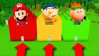 Minecraft PE : DO NOT CHOOSE THE WRONG SECRET BASE! (Mario, Jeffy, Bowser JR)