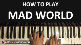 HOW TO PLAY - Gary Jules - Mad World (Piano Tutorial Lesson)