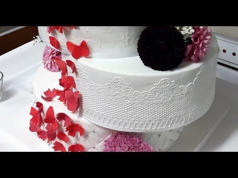 Tortenspitze herstellen/Cake Lace/Verwendung von Flexi Ice