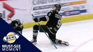 Must See Moment: Noah Serdachny scores a pair of beauties to lead Salmon Arm to victory