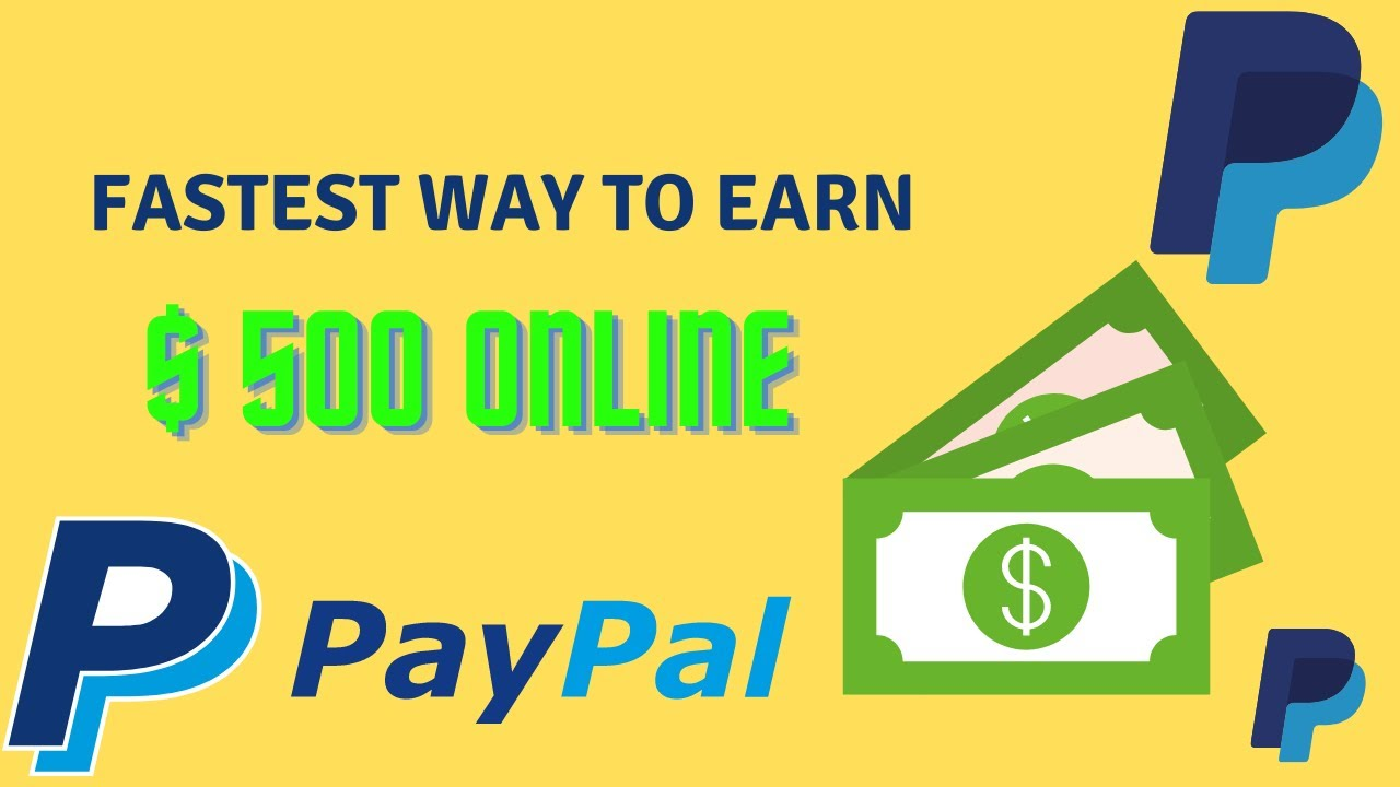 Fastest Method to Make $500 Online With Paypal in 2021 (Generate Income Online) thumbnail